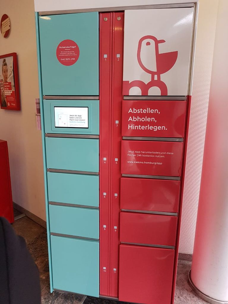 Smart lockers for the bank in Hamburg. Haspa's innovative project: lockers can be easily rented via app