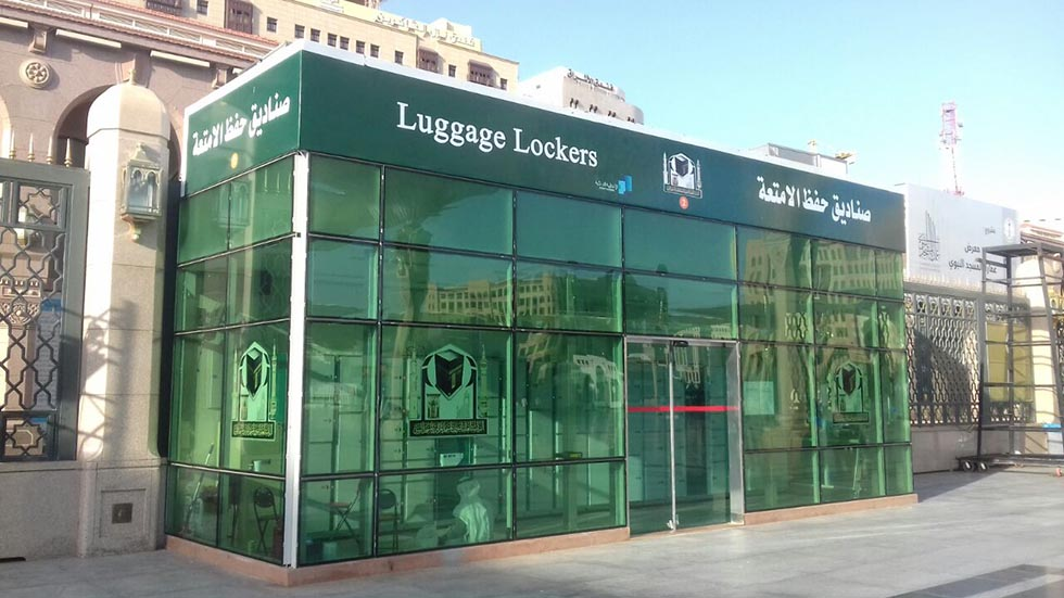 Smart lockers for luggage in Mecca: LockTec delivers luggage locker cabinets worldwide