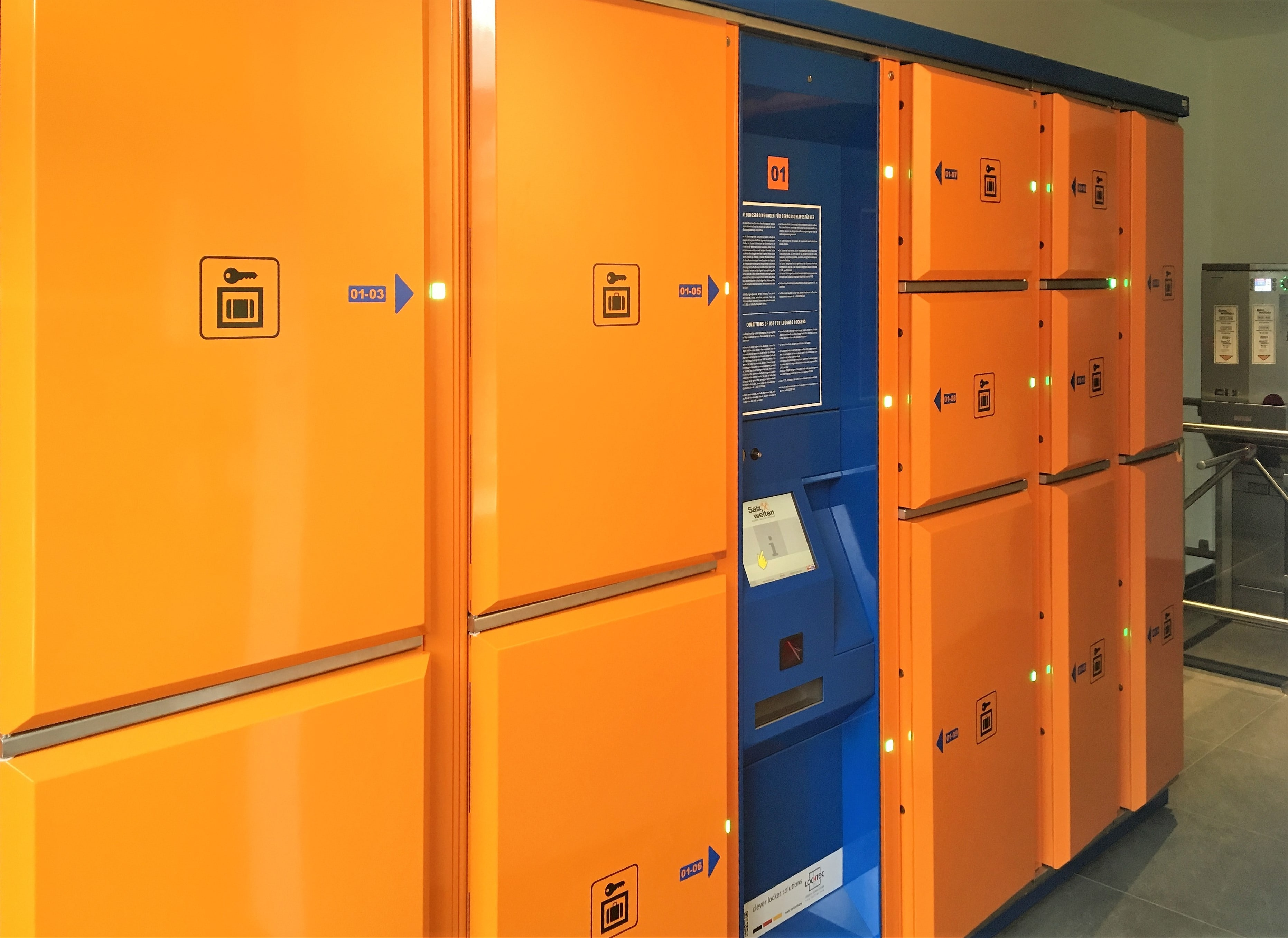 lockers for tourism - Locksafe at Salzwelten