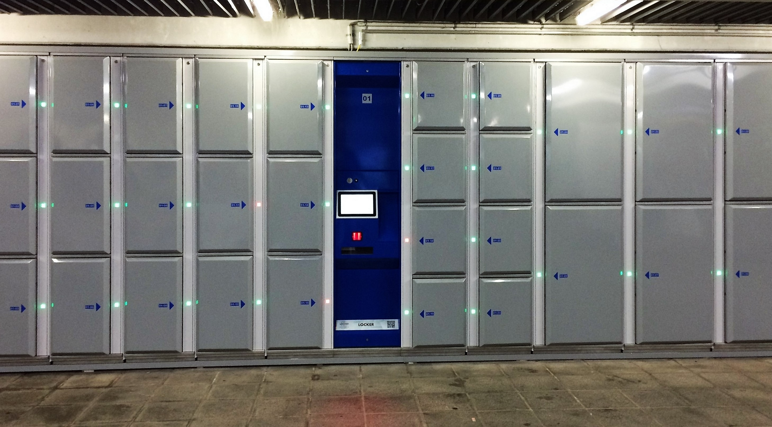 Smart lockers for airport in Nuremberg - Locksafe by LockTec