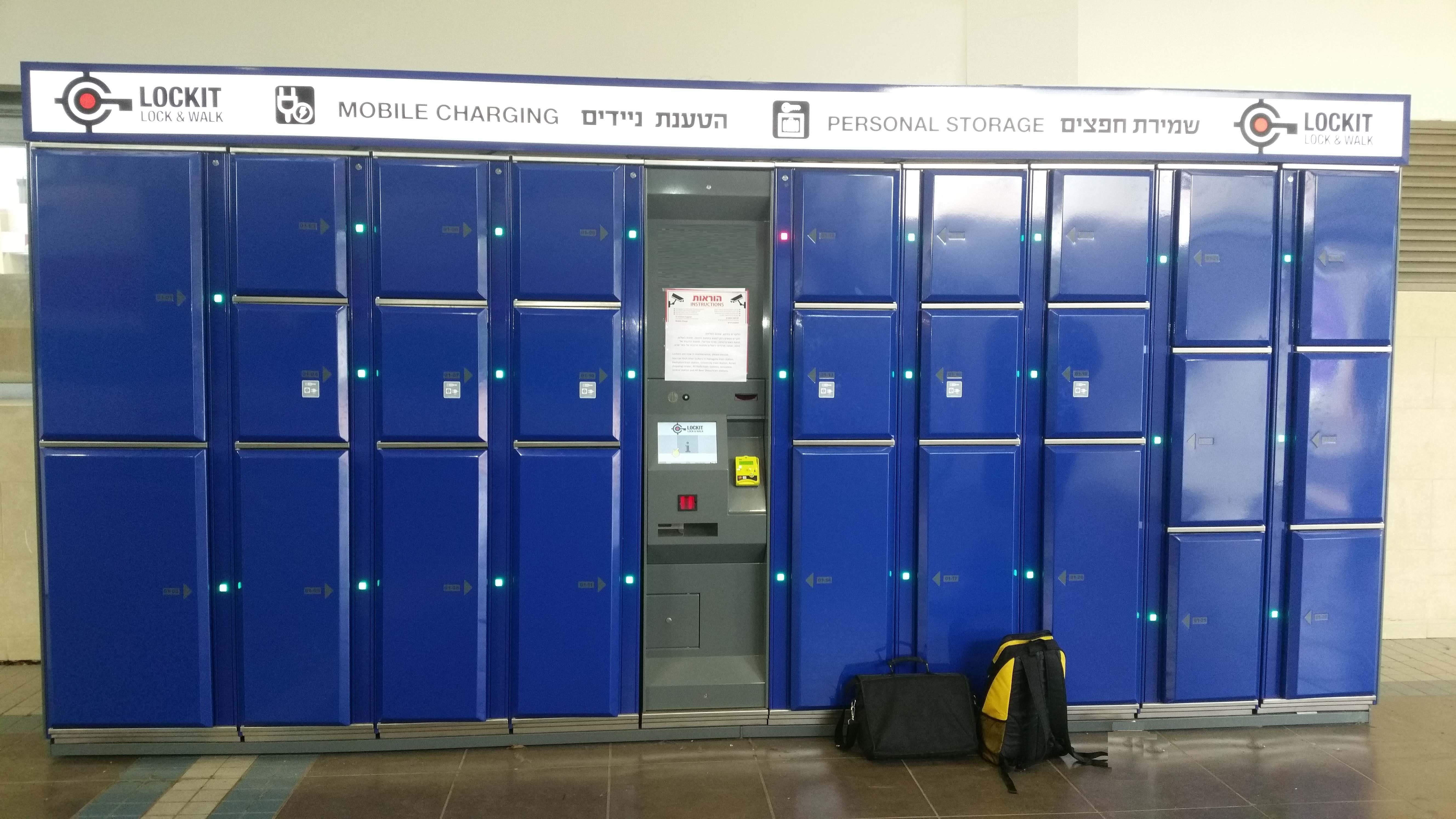 Smart lockers Locksafe5 – keyless locker system indoors for storage of luggage, electronic devices and other equipment.