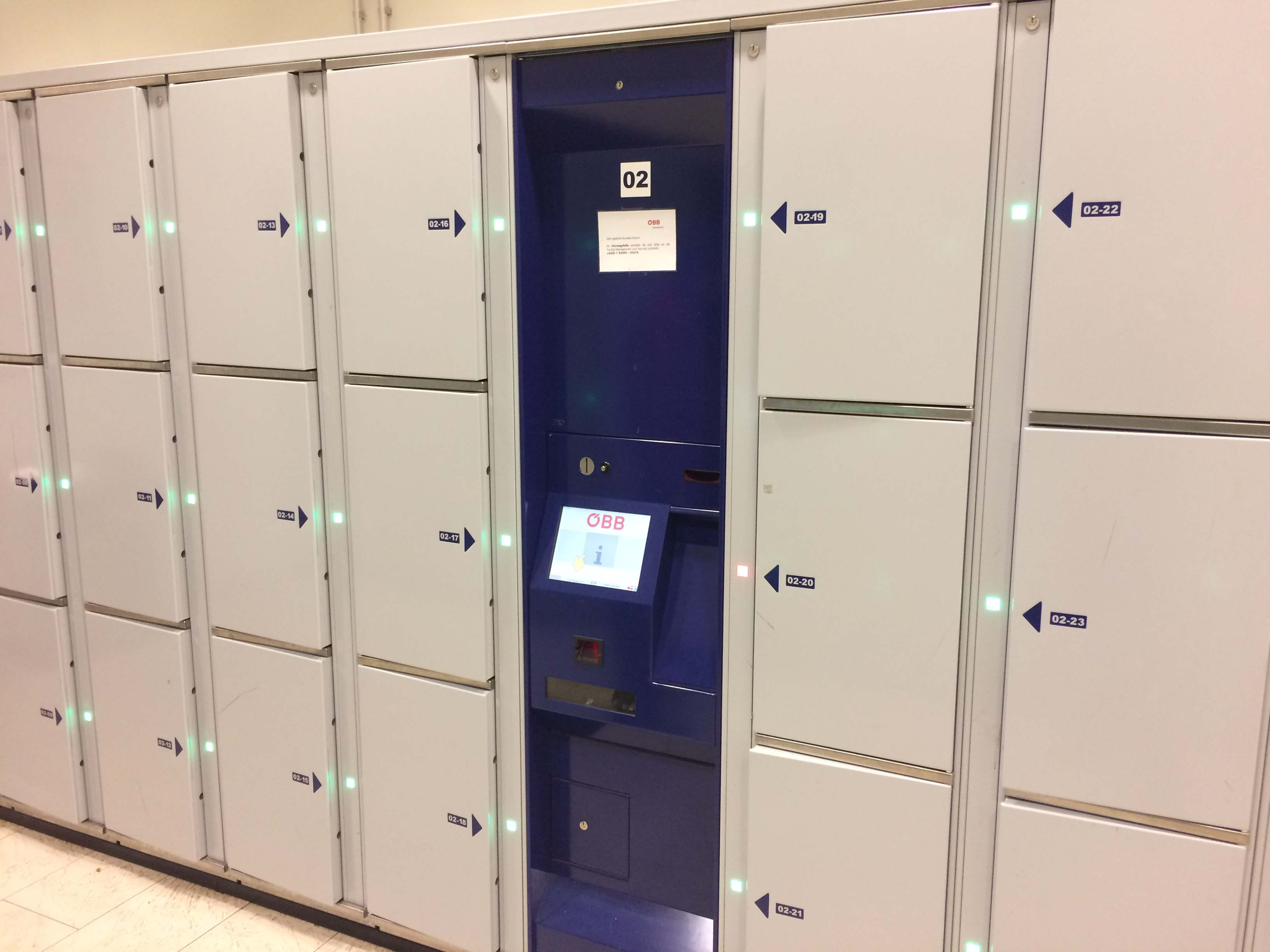 Smart lockers Locksafe5 – keyless lockers for train stations, airports and other transport operators.